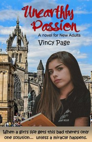 "Cover of ""Unearthly Passion"" novel"