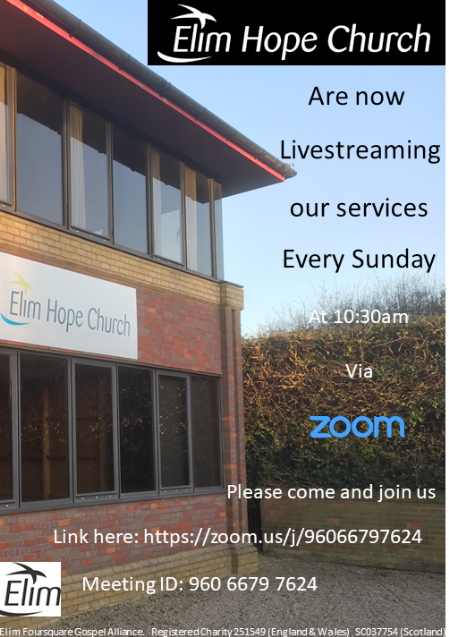 Elim Hope Church Zoom meeting url.